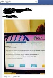 """la foto pubblicata sul gruppo facebook """"aspiranti specializzandi"""""""