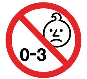 simbolo non adatto sotto i 4 anni