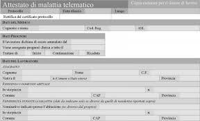 certificato malattia telematico
