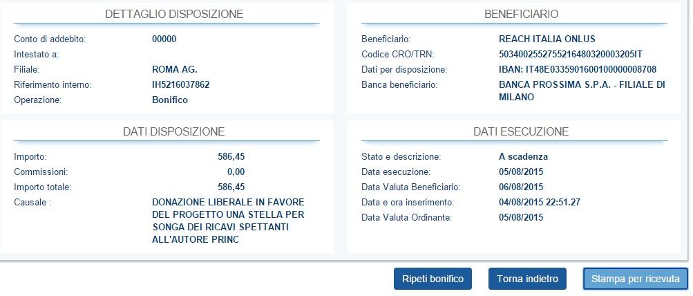 donazione reach italia